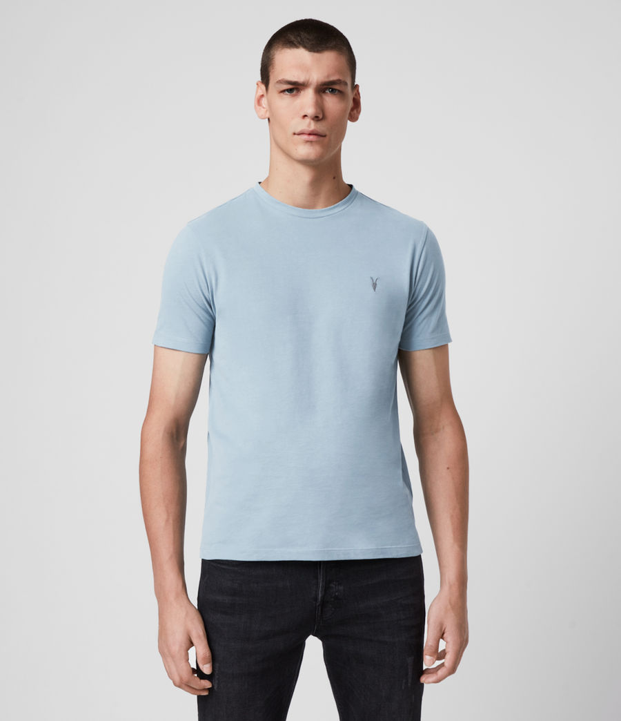 Men's Brace Tonic Crew T-Shirt (ceramic_blue) - Image 4