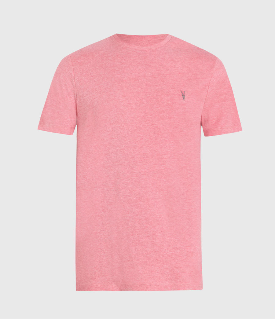 Hombres Brace Tonic Crew T-Shirt (pop_pink_marl) - Image 1
