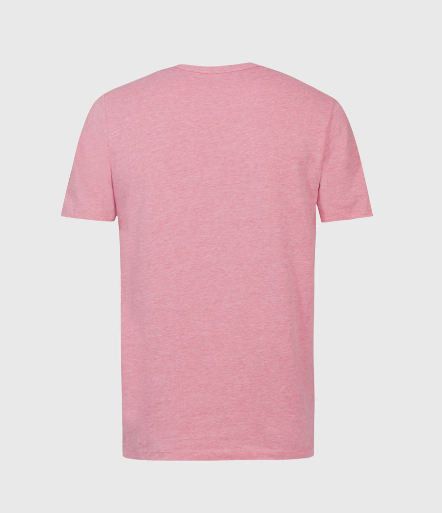 Hombres Brace Tonic Crew T-Shirt (pop_pink_marl) - Image 2