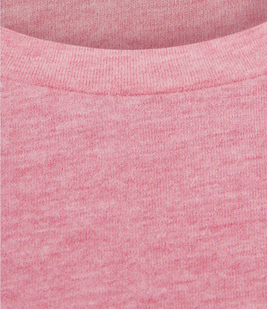 Hombres Brace Tonic Crew T-Shirt (pop_pink_marl) - Image 4