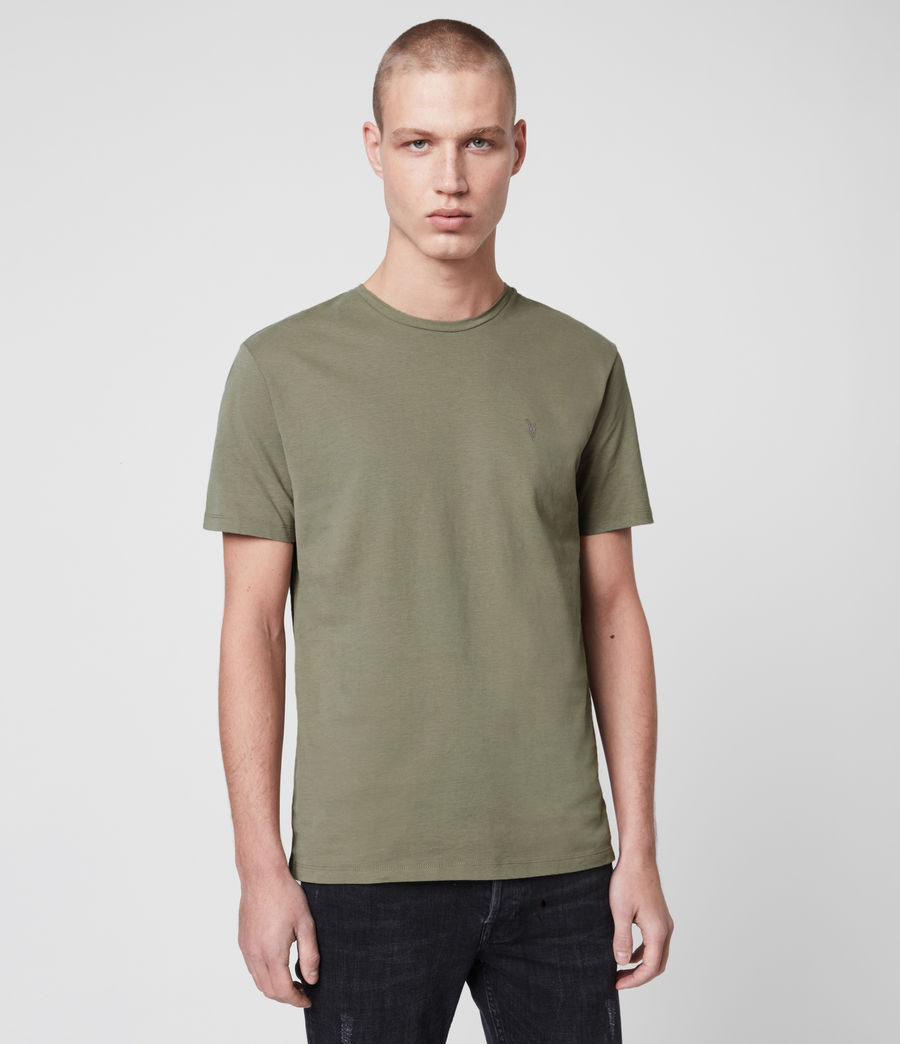 Mens Brace Tonic Crew T-Shirt (aloe_green) - Image 1
