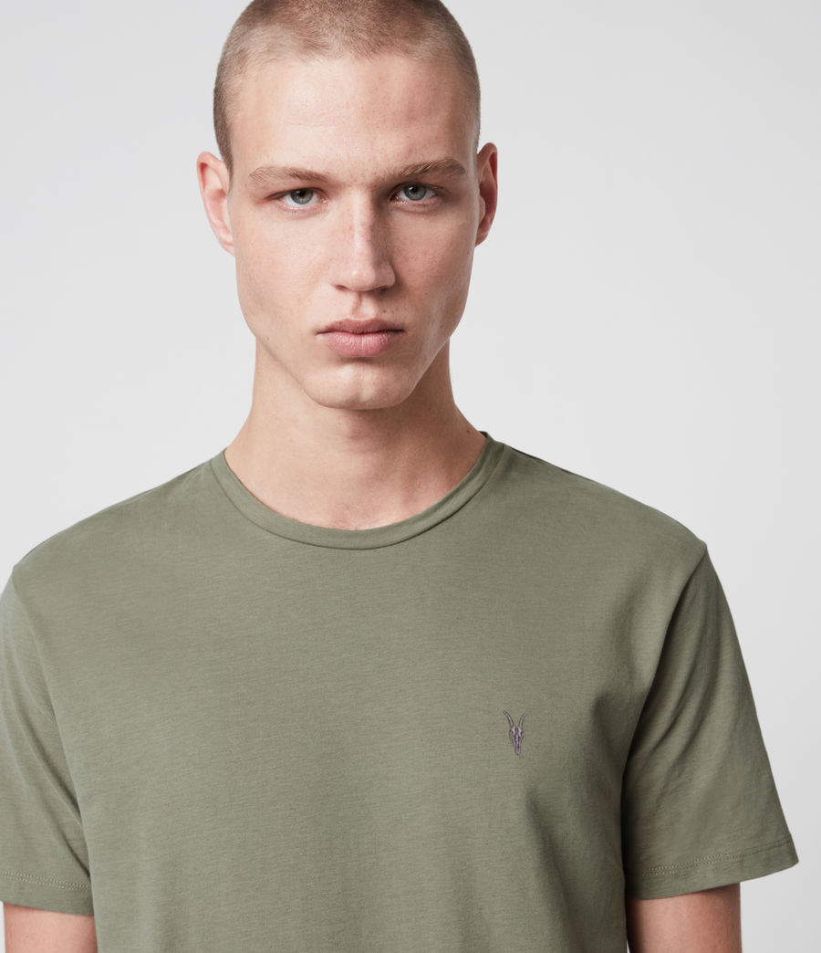 Mens Brace Tonic Crew T-Shirt (aloe_green) - Image 2