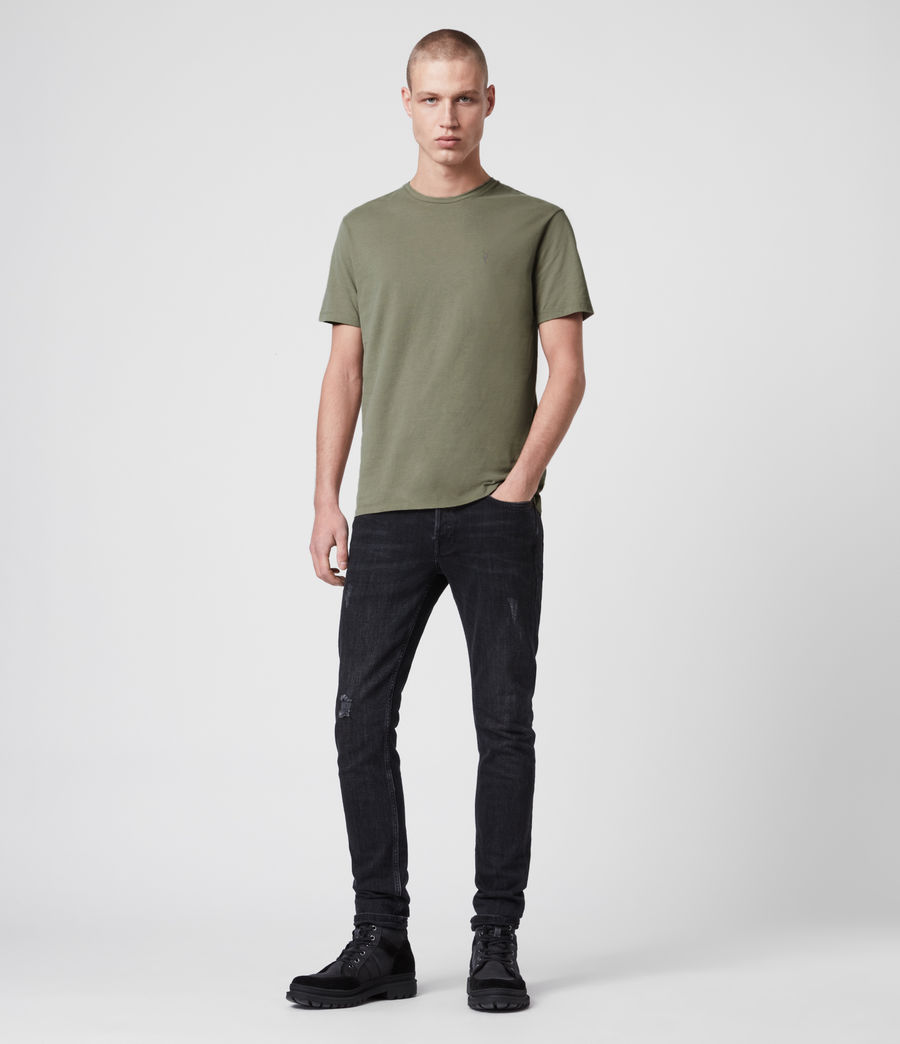 Mens Brace Tonic Crew T-Shirt (aloe_green) - Image 3