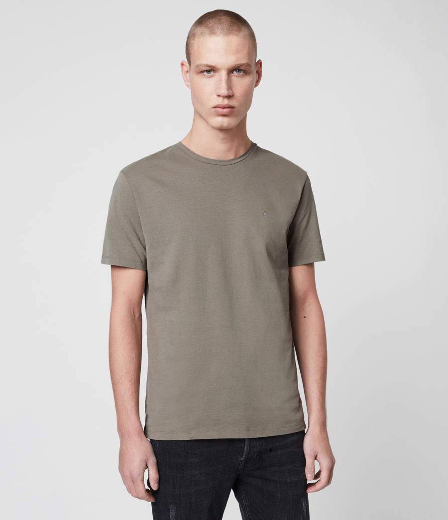 Mens Brace Tonic Crew T-Shirt (solid_grey) - Image 3