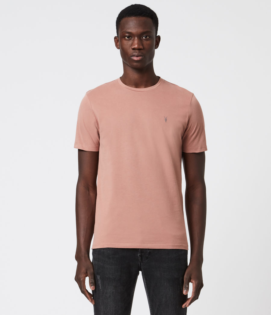 Mens Brace Tonic Crew T-Shirt (baked_clay_pink) - Image 1