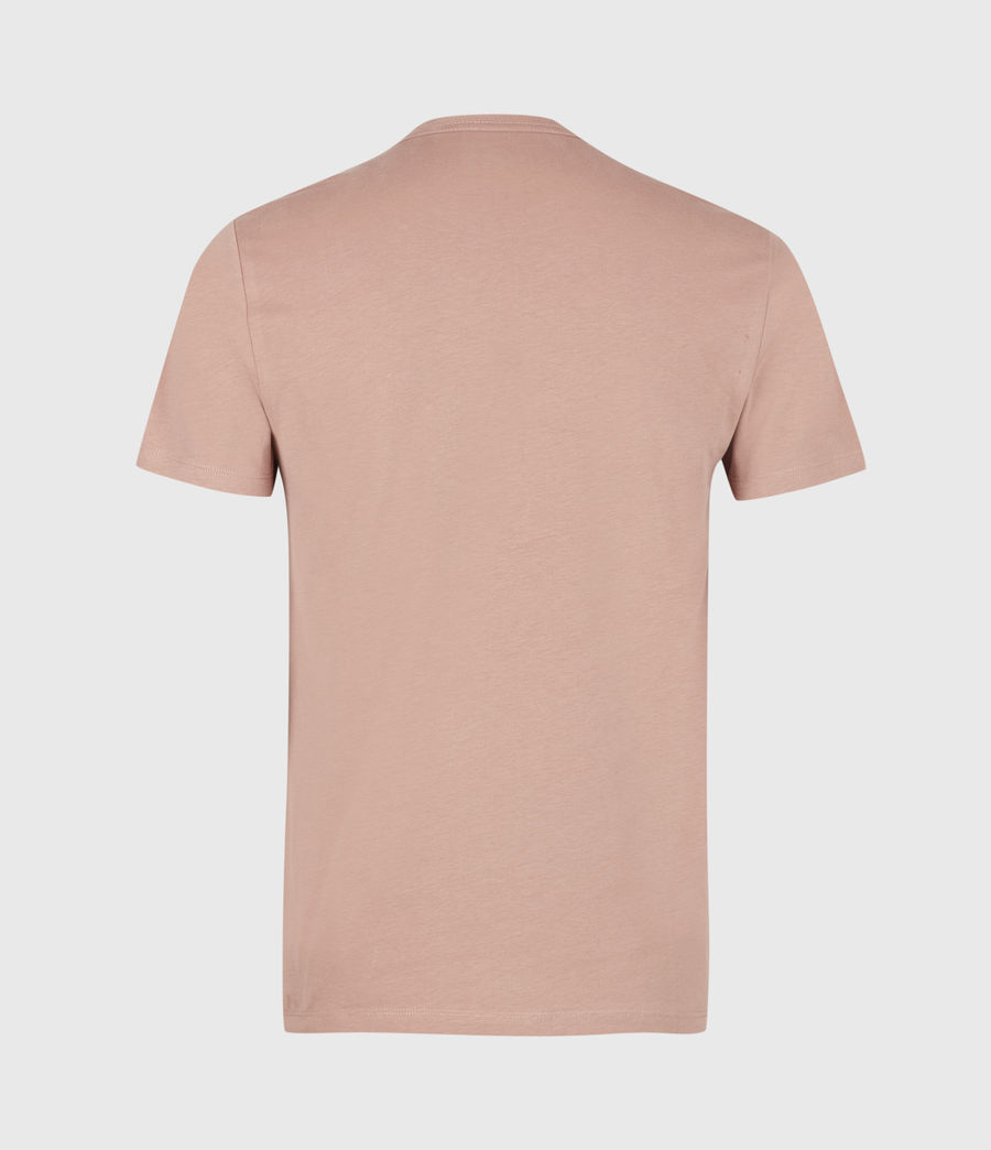 Mens Brace Tonic Crew T-Shirt (baked_clay_pink) - Image 3