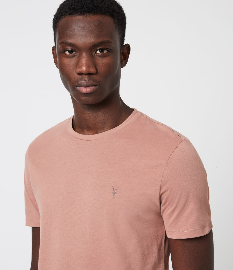 Mens Brace Tonic Crew T-Shirt (baked_clay_pink) - Image 4