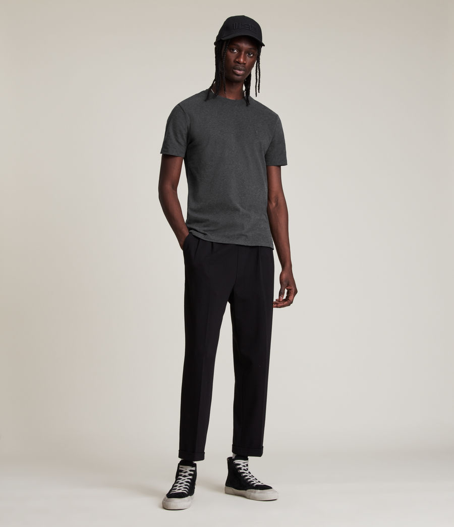 Men's Brace Tonic Crew T-Shirt (charcoal_marl) - Image 3