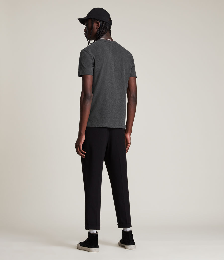 Mens Brace Tonic Short Sleeve Crew T-Shirt (charcoal_marl) - Image 4