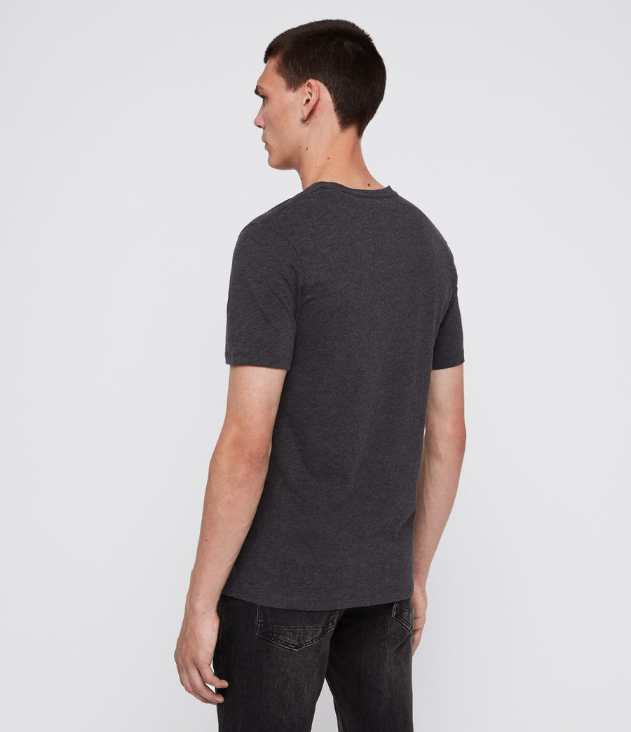 Mens Brace Tonic Short Sleeve Crew T-Shirt (charcoal_marl) - Image 5
