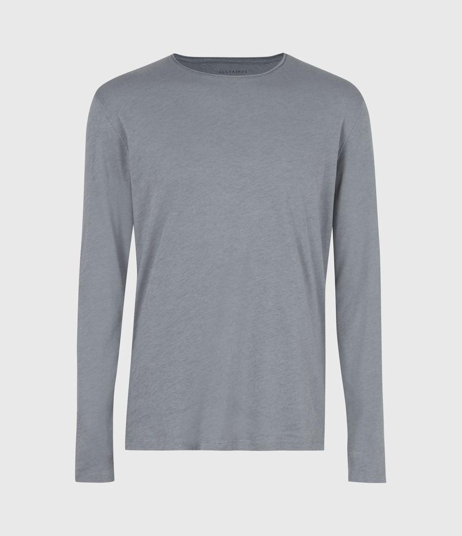 Mens Figure Long Sleeve Crew T-Shirt (twilight_grey) - Image 2
