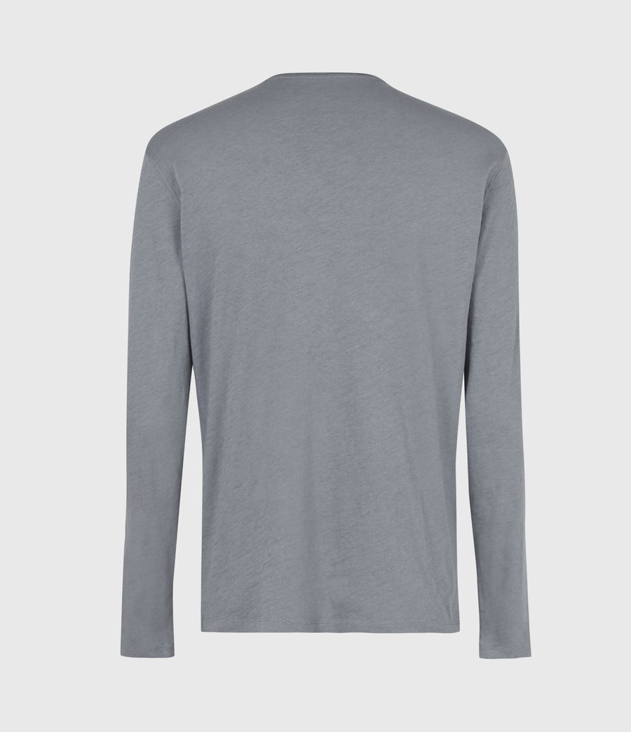Mens Figure Long Sleeve Crew T-Shirt (twilight_grey) - Image 3