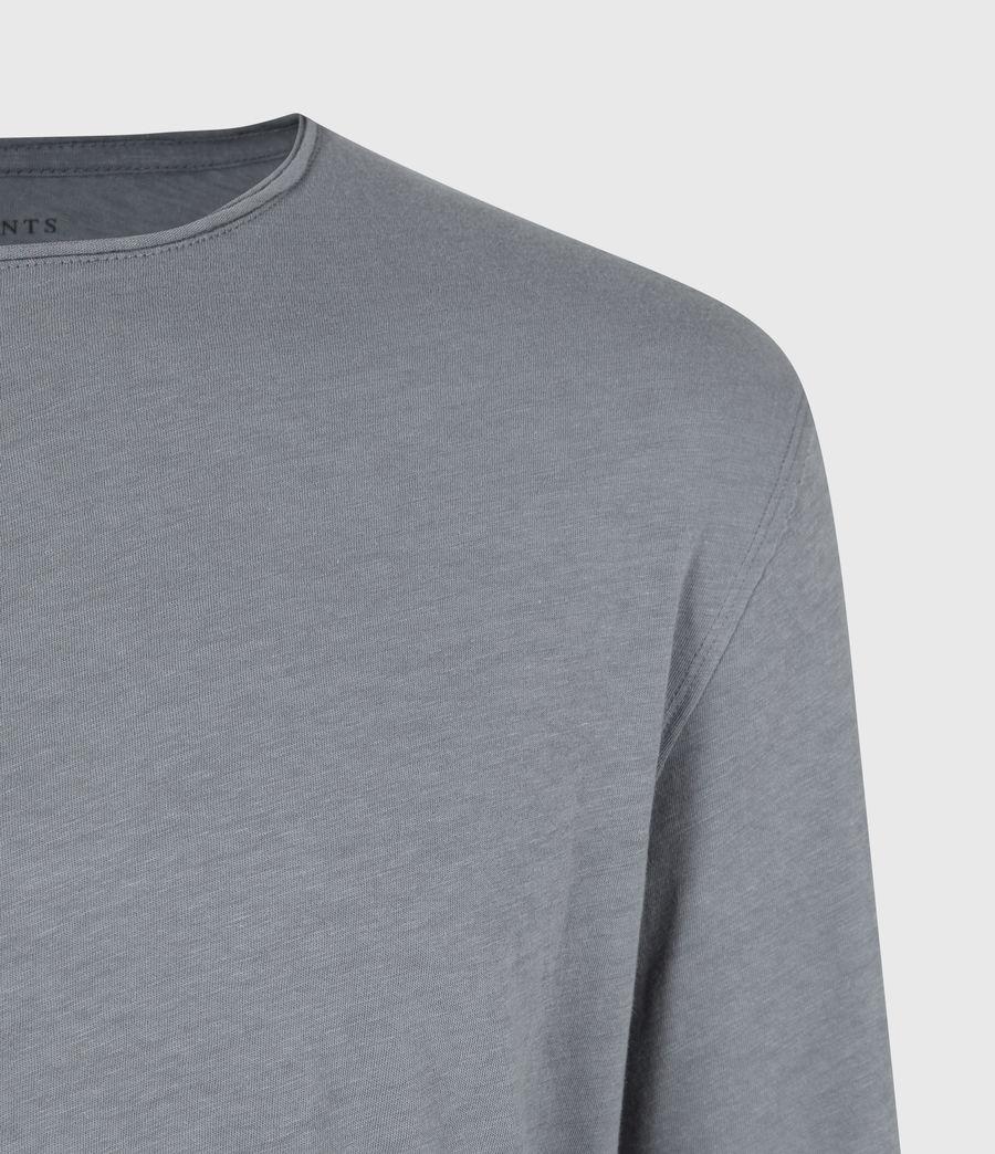 Mens Figure Long Sleeve Crew T-Shirt (twilight_grey) - Image 5
