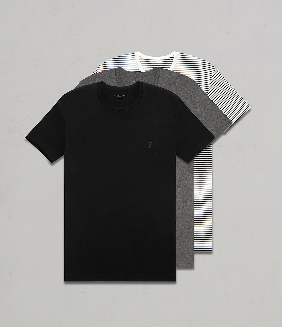 Men's Touch Crew T-Shirt 3 Pack (black_charcoal_str) - Image 1
