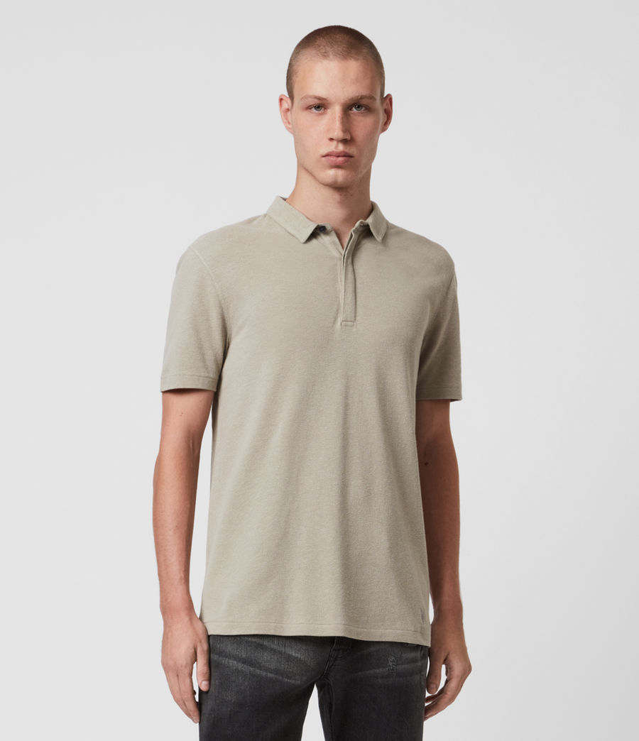 Men's Hemp Polo Shirt (limestone_taupe) - Image 1