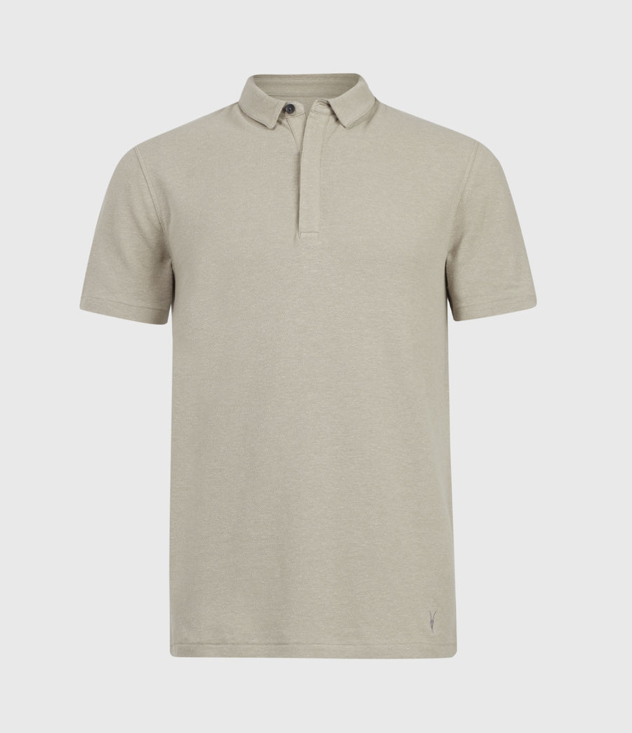 Men's Hemp Polo Shirt (limestone_taupe) - Image 2