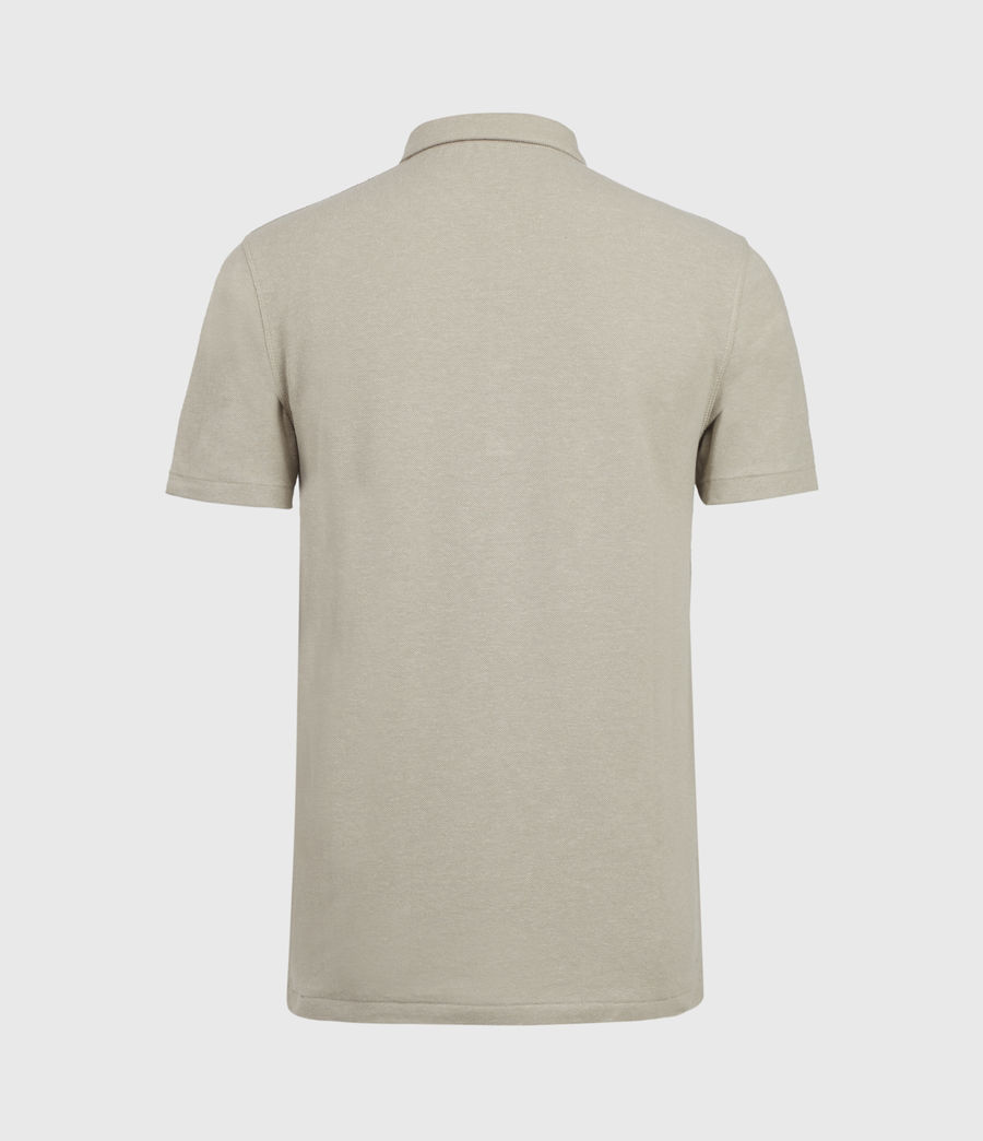 Men's Hemp Polo Shirt (limestone_taupe) - Image 3