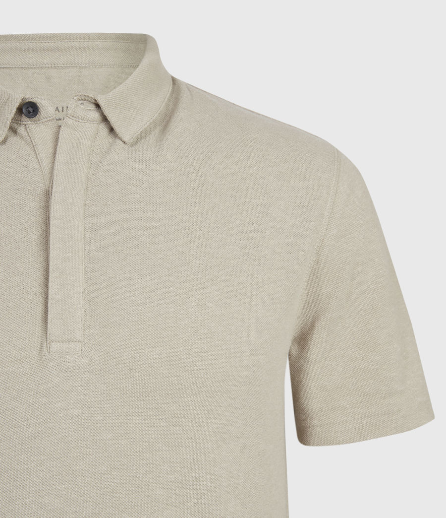 Men's Hemp Polo Shirt (limestone_taupe) - Image 4