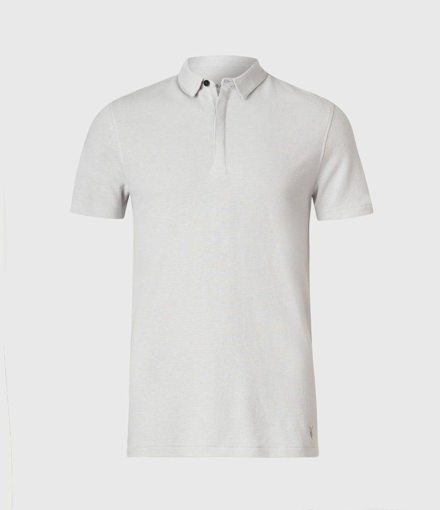 Mens Hemp Polo Shirt (horizon_grey) - Image 1