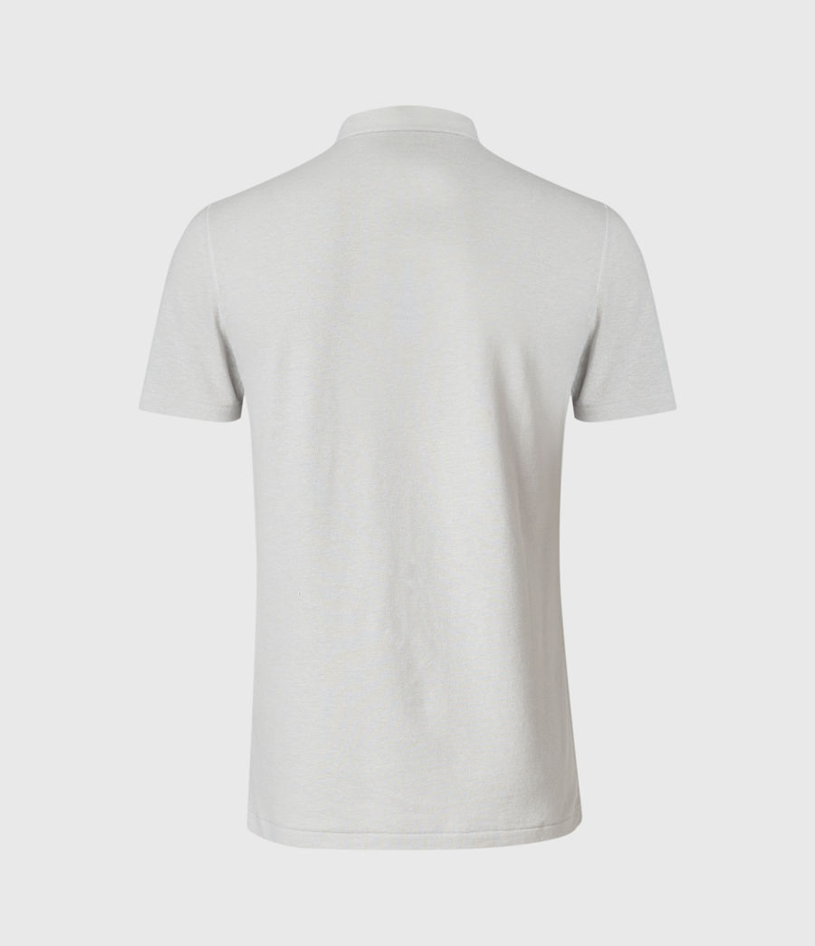 Mens Hemp Polo Shirt (horizon_grey) - Image 2