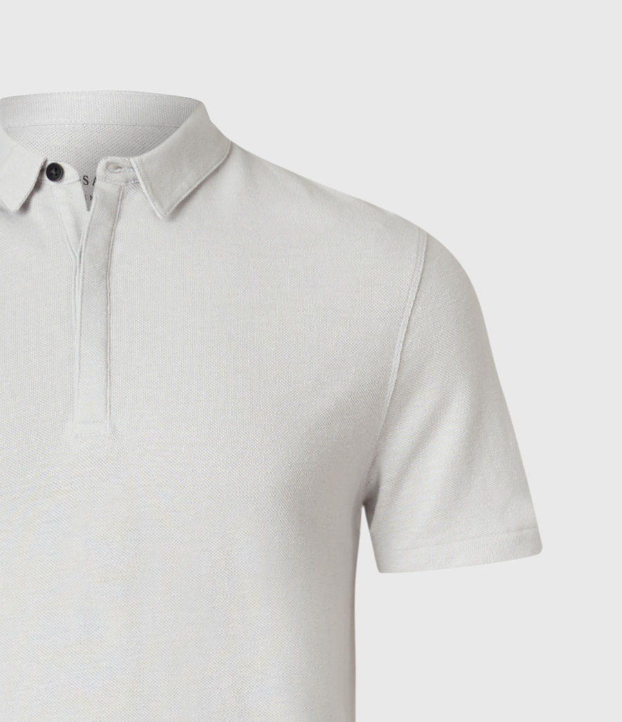 Men's Hemp Polo Shirt (horizon_grey) - Image 3