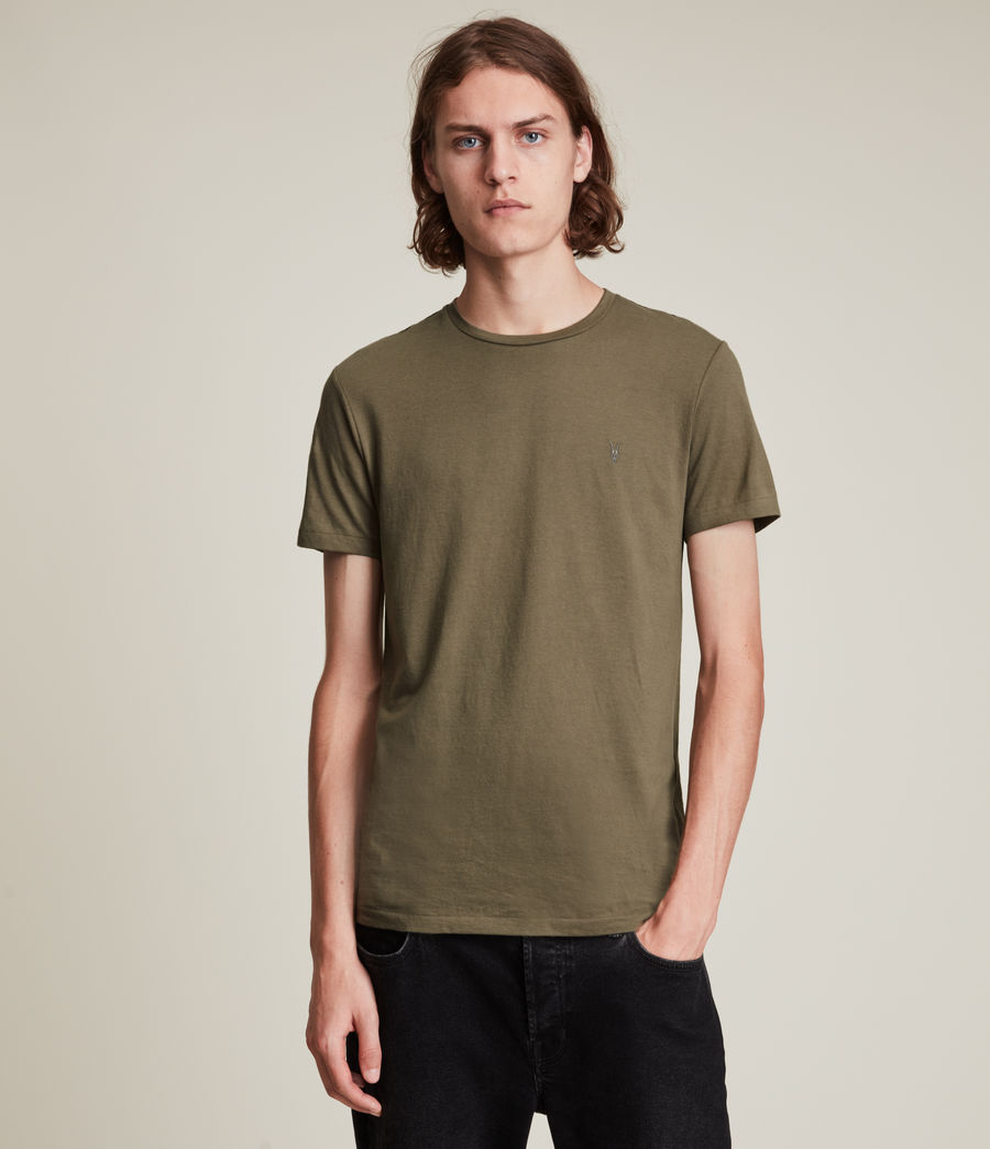 Herren Tonic Crew T-Shirt (peppered_brown) - Image 1