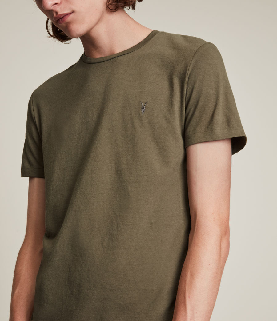 Herren Tonic Crew T-Shirt (peppered_brown) - Image 2