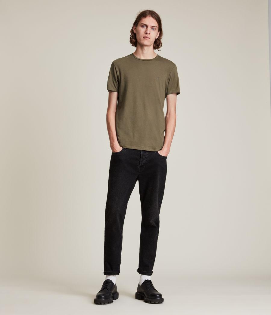 Herren Tonic Crew T-Shirt (peppered_brown) - Image 3
