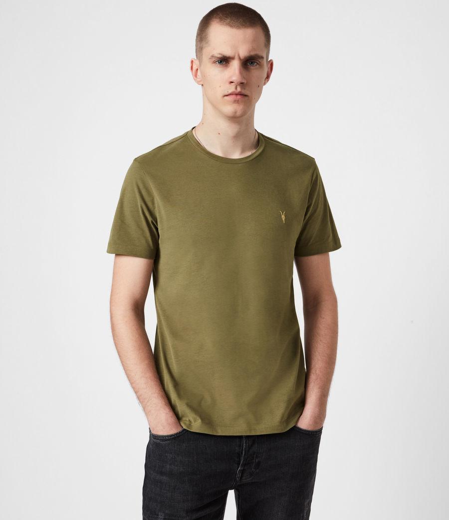 Mens Brace Contrast Crew T-Shirt (saguaro_green) - Image 1