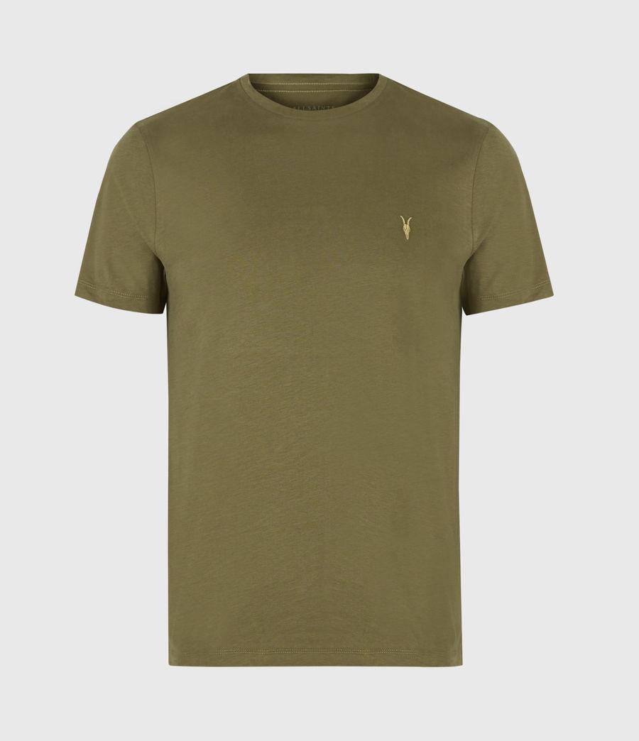 Mens Brace Contrast Crew T-Shirt (saguaro_green) - Image 2