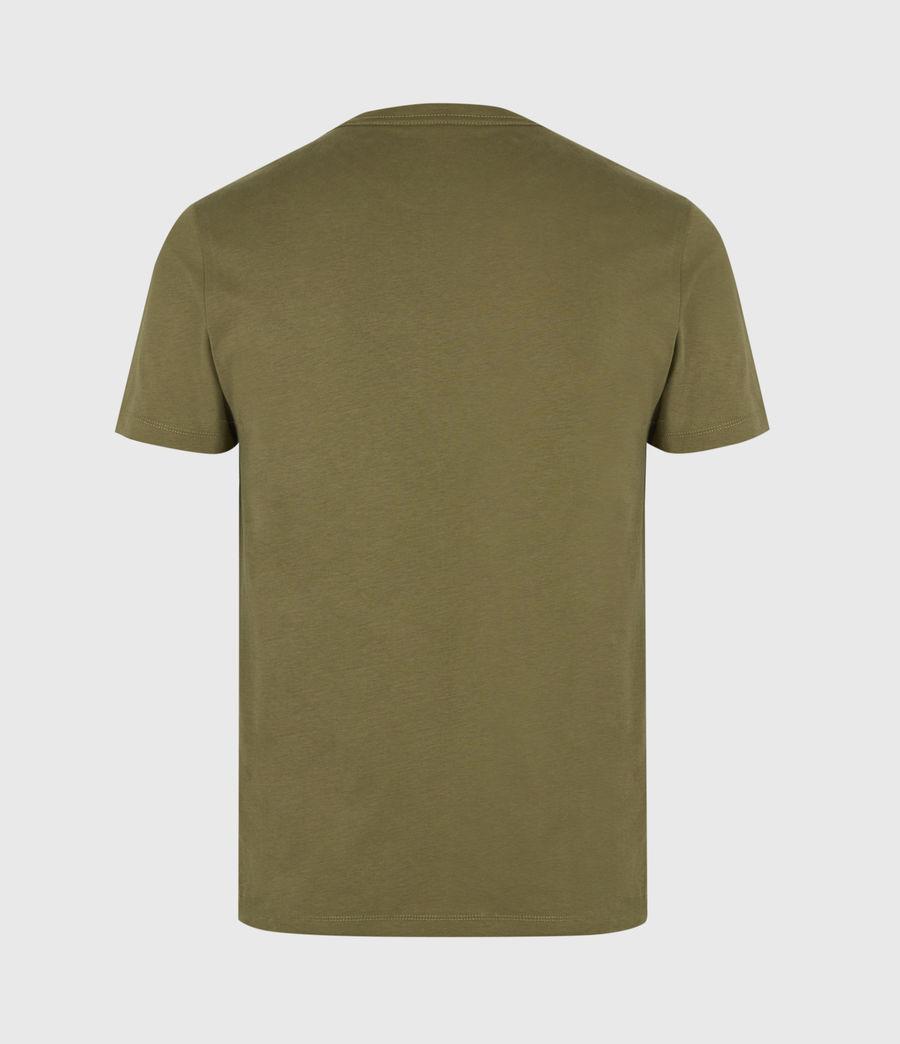 Mens Brace Contrast Crew T-Shirt (saguaro_green) - Image 3