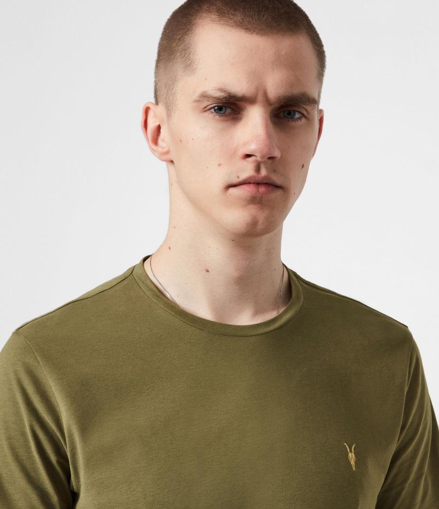 Mens Brace Contrast Crew T-Shirt (saguaro_green) - Image 4