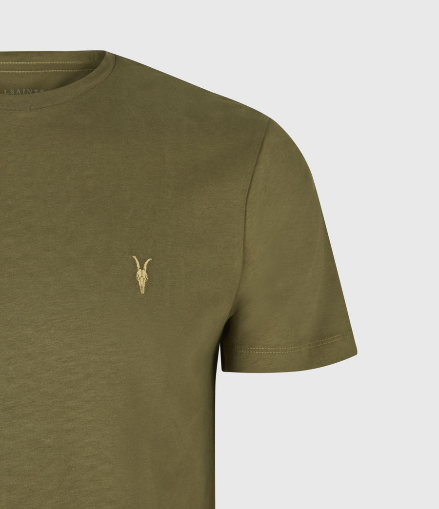 Mens Brace Contrast Crew T-Shirt (saguaro_green) - Image 5