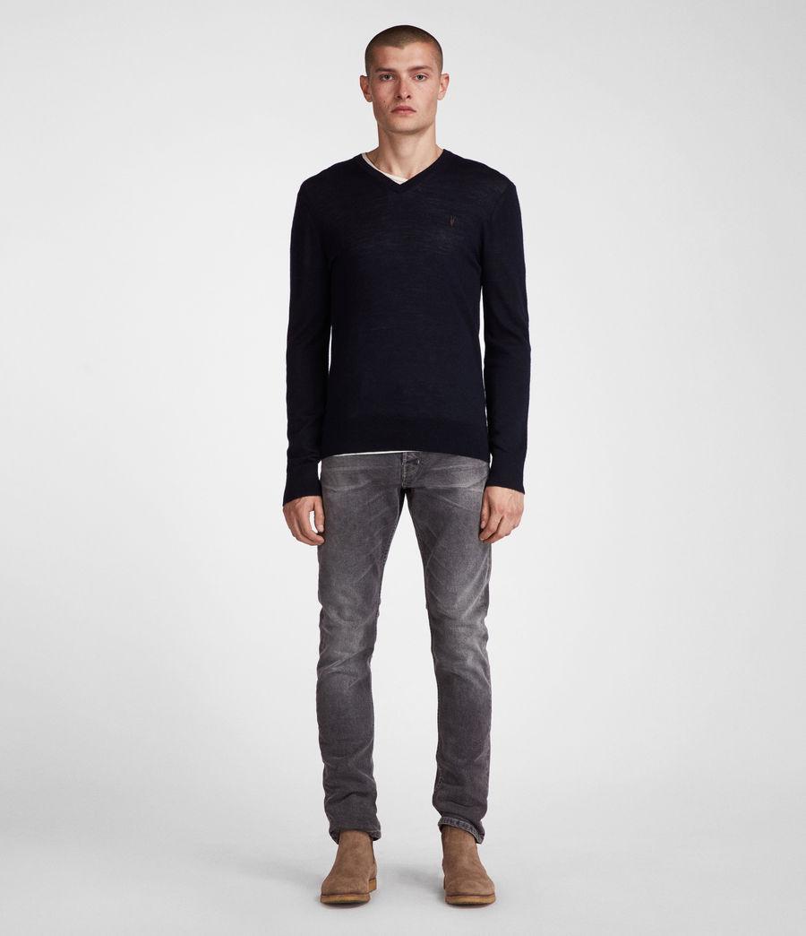 Herren Mode Merino V-Ausschnitt Pullover (ink_navy) - Image 2