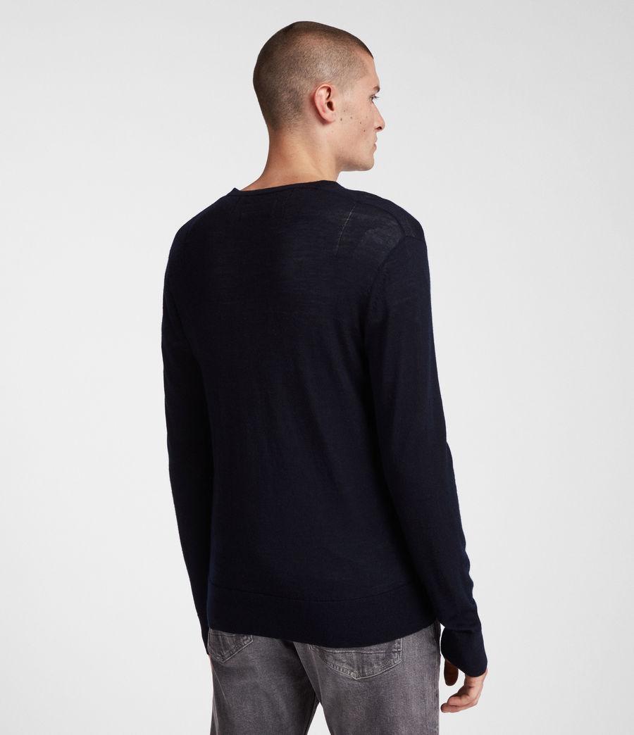 Herren Mode Merino V-Ausschnitt Pullover (ink_navy) - Image 5