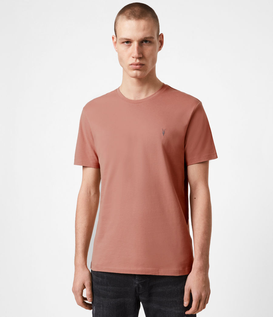 Mens Brace Crew T-Shirt (desert_rose_pink) - Image 1
