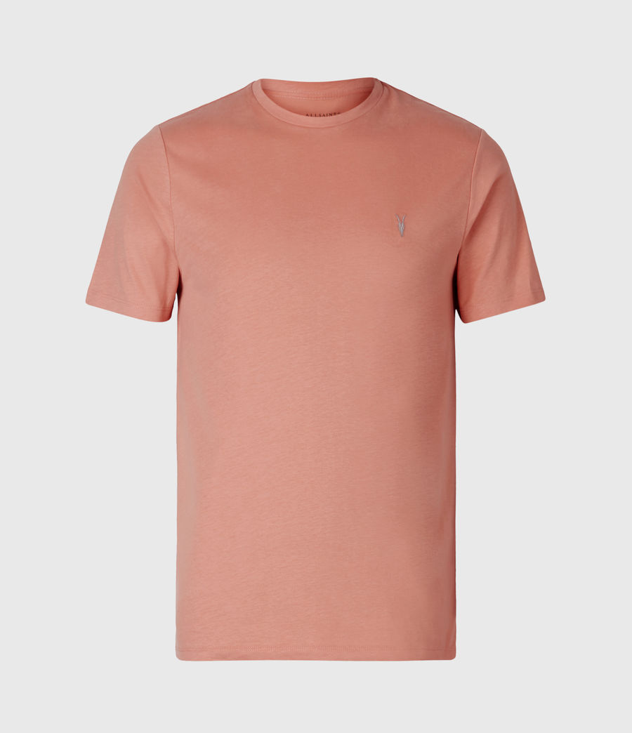 Mens Brace Crew T-Shirt (desert_rose_pink) - Image 2