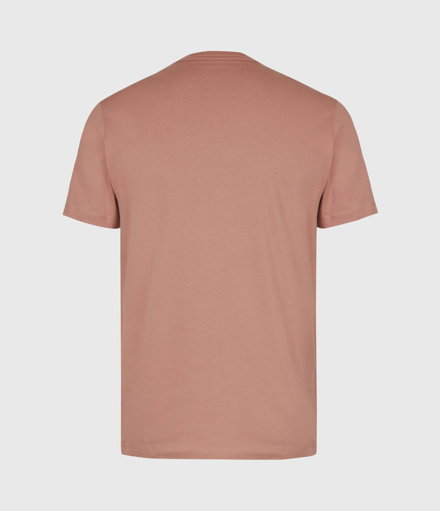Mens Brace Crew T-Shirt (desert_rose_pink) - Image 3