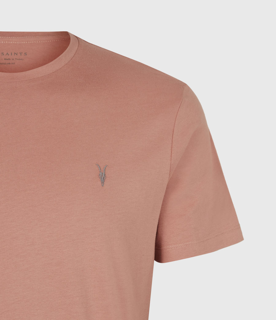 Mens Brace Crew T-Shirt (desert_rose_pink) - Image 4