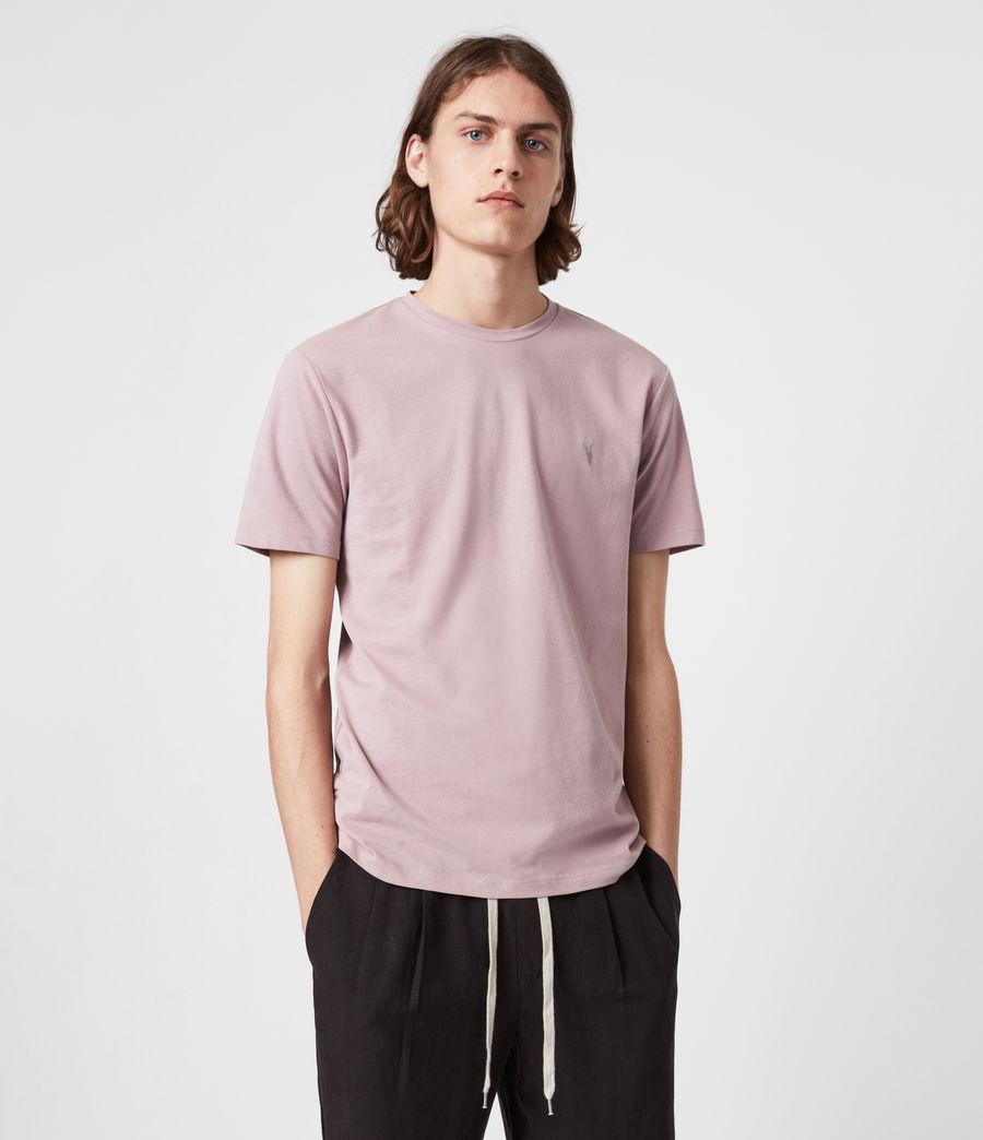 Mens Brace Crew T-Shirt (uluru_pink) - Image 1