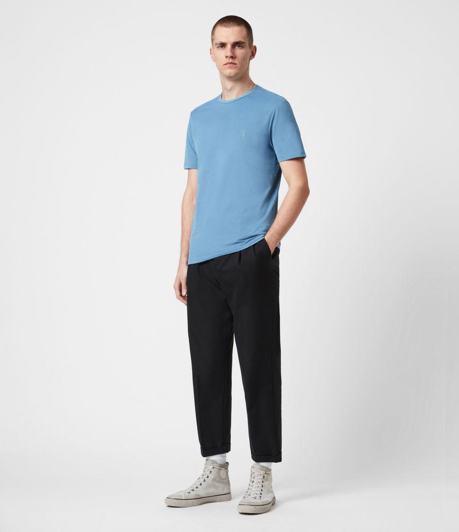 Mens Brace Crew T-Shirt (mirage_blue) - Image 4