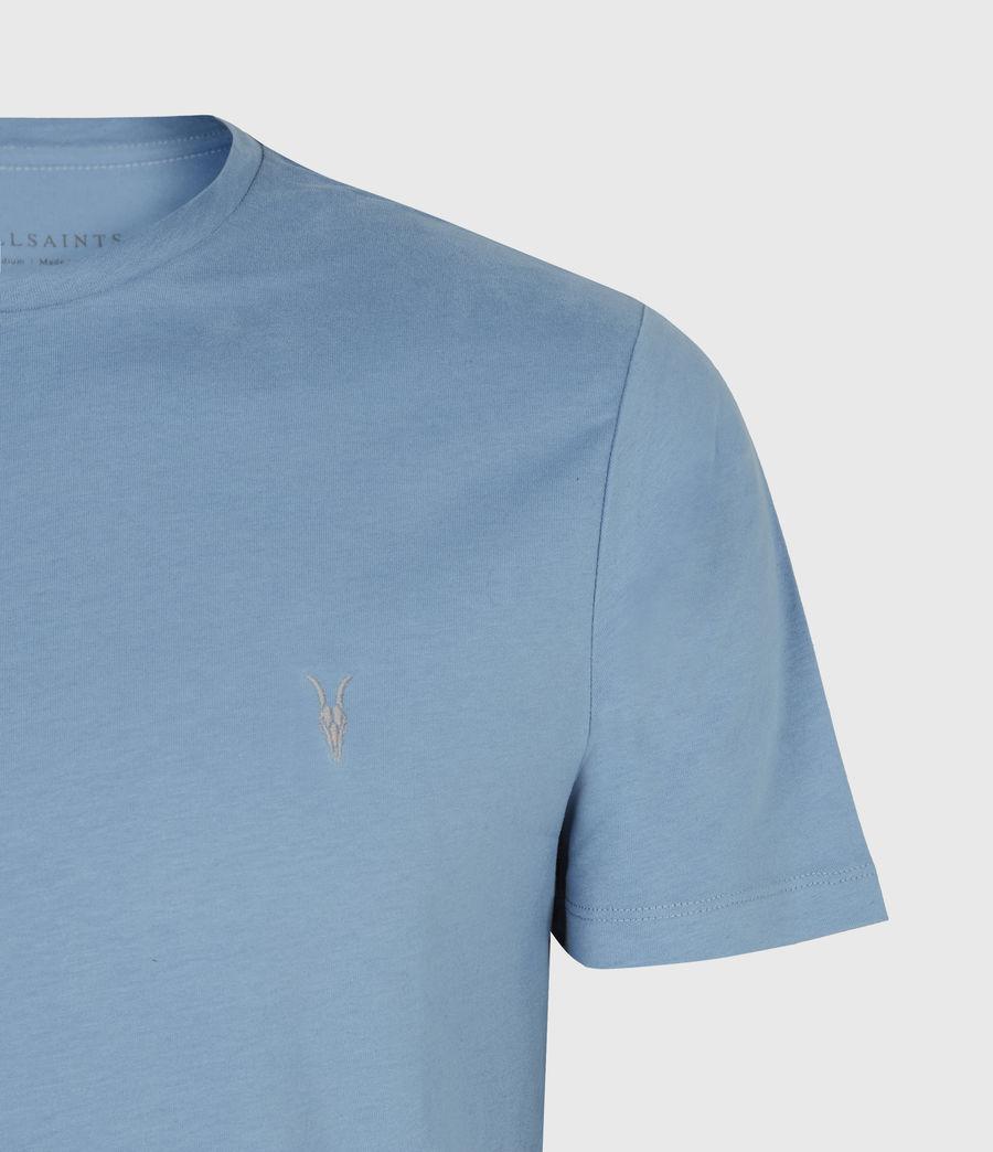 Mens Brace Crew T-Shirt (mirage_blue) - Image 5