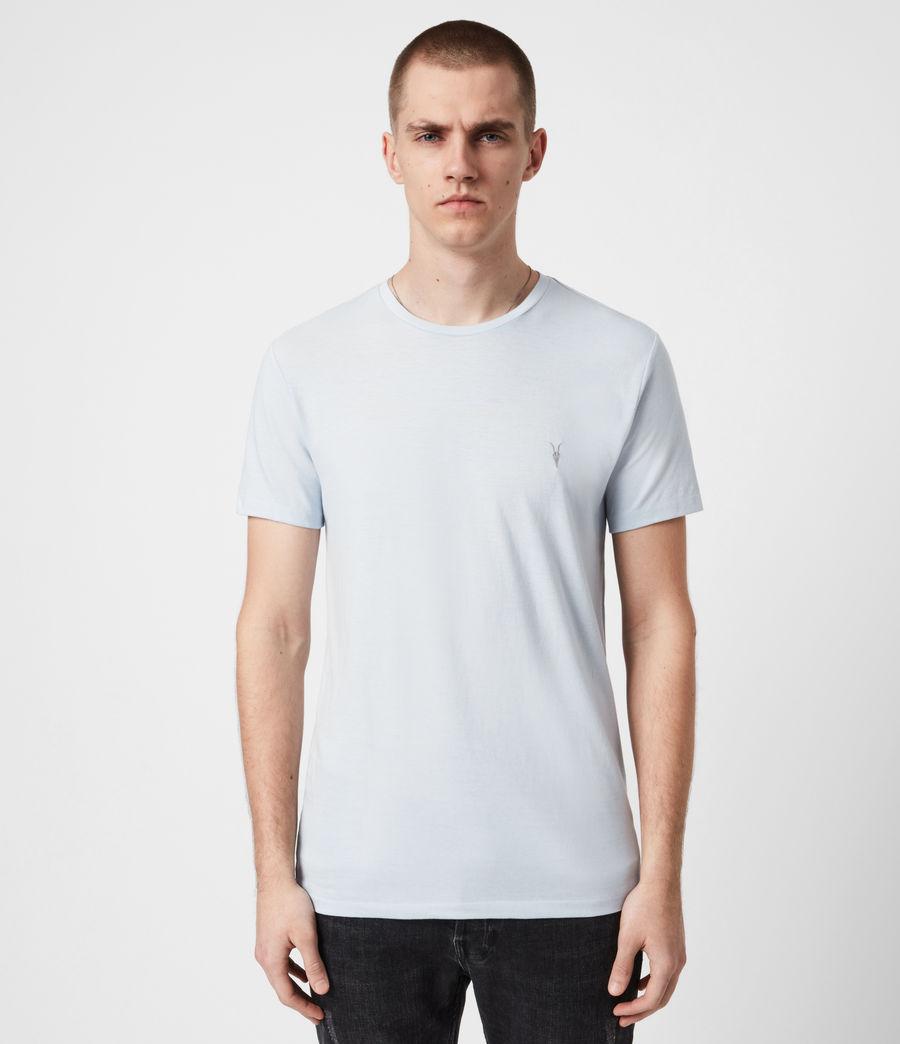 Mens Brace Crew T-Shirt (hazy_blue) - Image 1