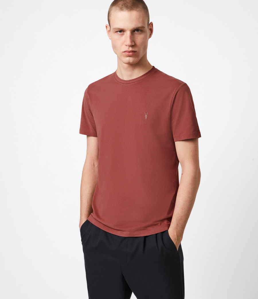 Men's Brace Crew T-Shirt (clay_red) - Image 1