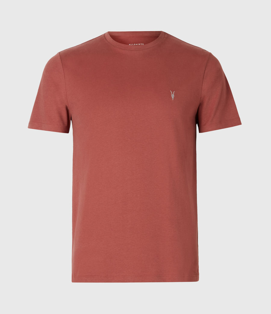 Men's Brace Crew T-Shirt (clay_red) - Image 2