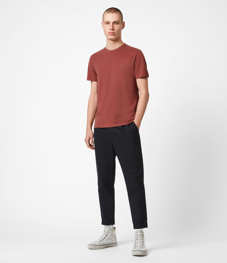 Men's Brace Crew T-Shirt (clay_red) - Image 4