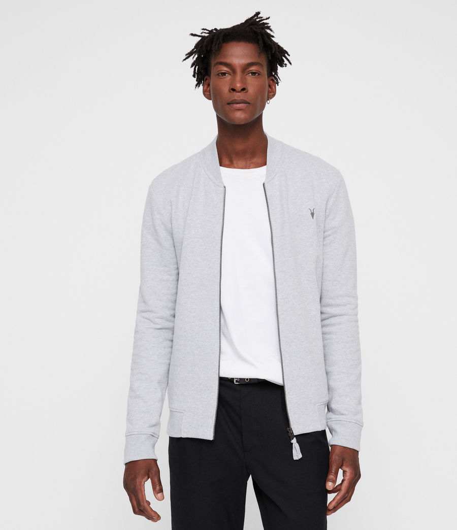 Men's Raven Sweat Bomber Jacket (grey_marl) - Image 1