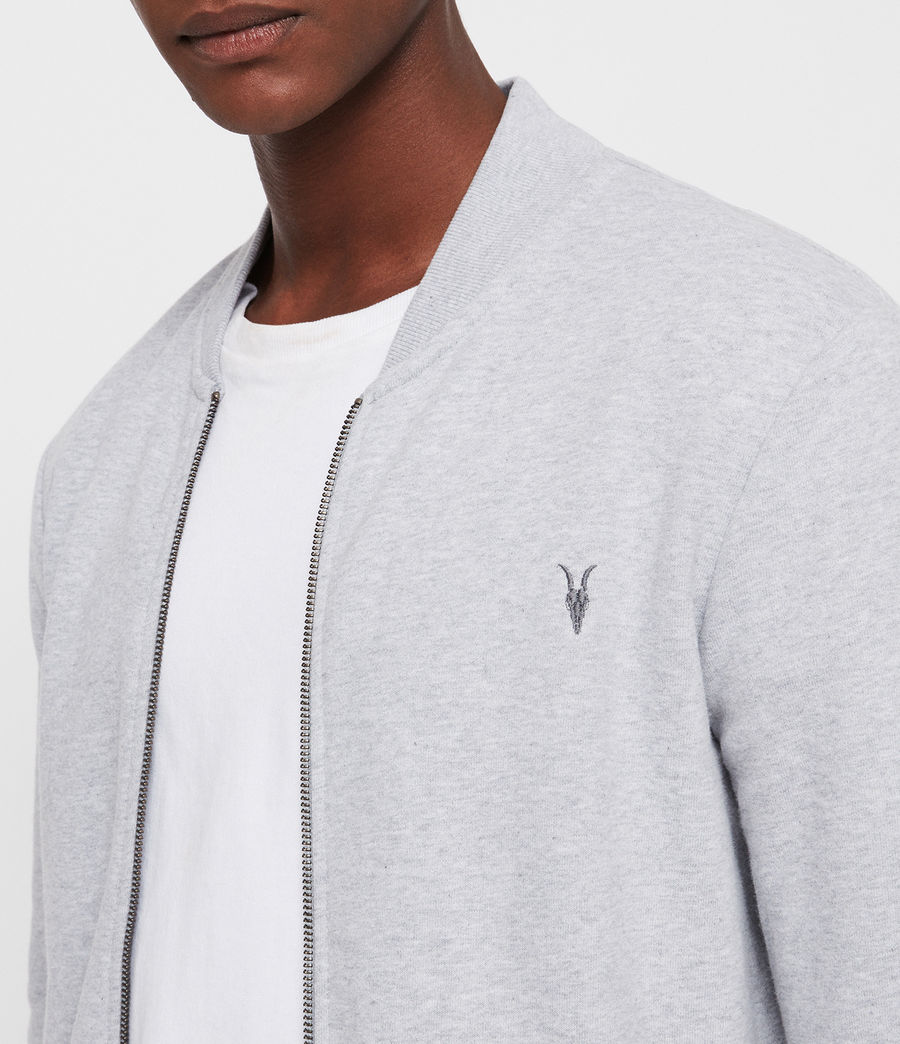 Men's Raven Sweat Bomber Jacket (grey_marl) - Image 2