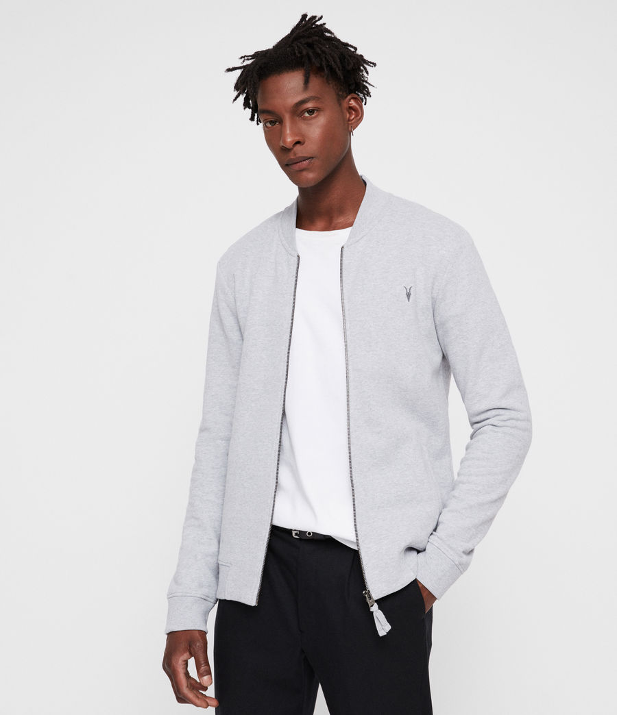 Men's Raven Sweat Bomber Jacket (grey_marl) - Image 4