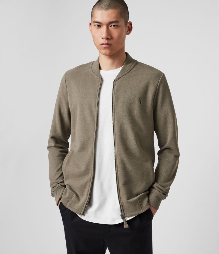 Hombres Raven Bomber Jacket (beech_green_marl) - Image 4